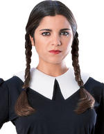 Wednesday Wig Adult The Addams Family Fancy Dress